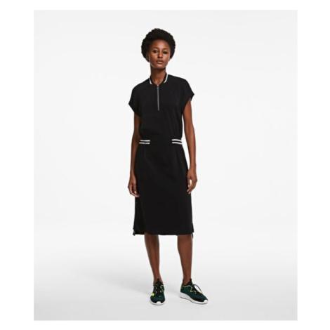 Šaty Karl Lagerfeld Cady Tennis Dress - Černá