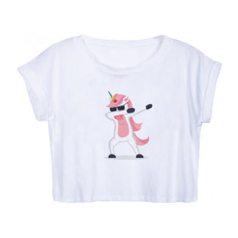 Dámské tričko Organic Crop Top DAB Jednorožec