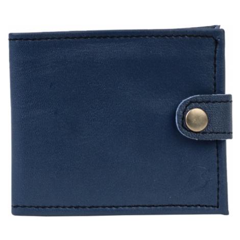 Bagind Klasey Atmos - Pánská kožená peněženka modrá, ruční výroba, český design