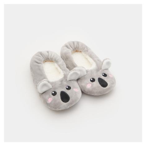 Sinsay - Hebké papuče slip on - Světle šedá
