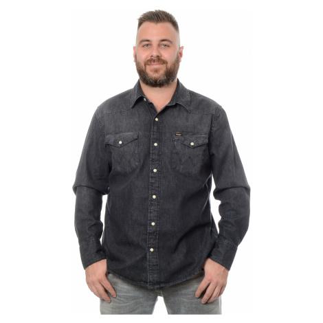 Košile Wrangler 27MW Rockstar pánská tmavě šedá