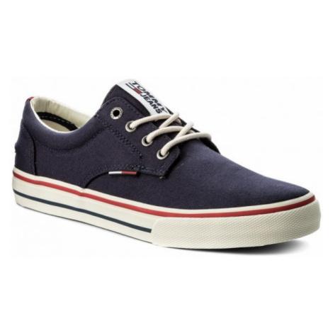 Tommy Hilfiger Tommy Jeans pánské tmavě modré plátěné tenisky
