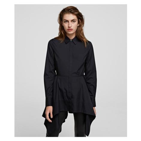 Košile Karl Lagerfeld Peplum Tunic Shirt - Černá