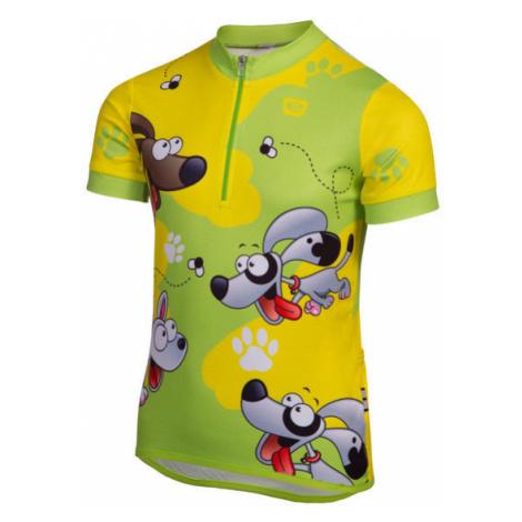 Dětský cyklistický dres Etape Rio zeleno-žlutý