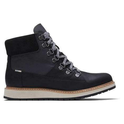 Waterproof Black Leather Techy Nylon Women Mesa Boot Toms
