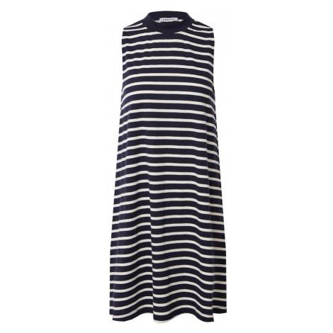 EDITED Šaty 'Aleana' námořnická modř / bílá