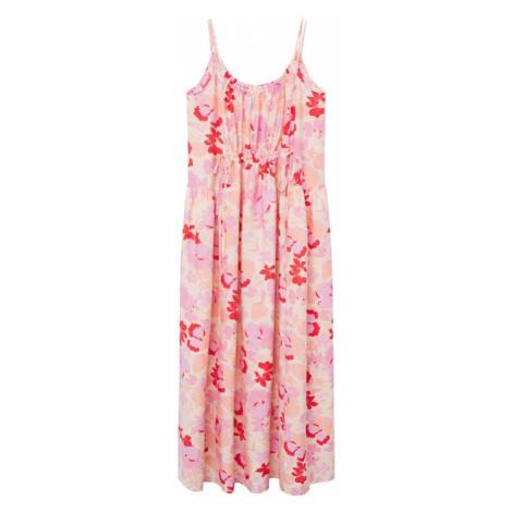 MANGO Letní šaty 'Lime' růžová / červená / světle žlutá / broskvová
