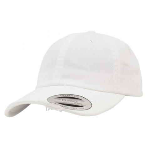 Low Profile Destroyed Cap - white
