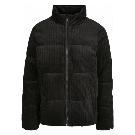 Boxy Corduroy Puffer Jacket - black Urban Classics