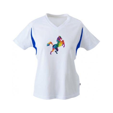 Funkční tričko dámské Kůň z polygonů