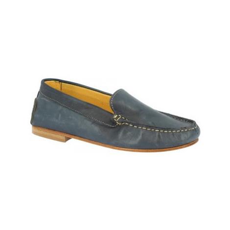 Leonardo Shoes 500 VITELLO BLU Modrá