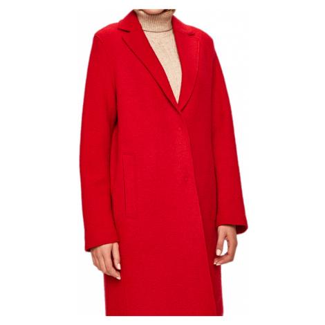Červený vlněný kabát - TOMMY HILFIGER