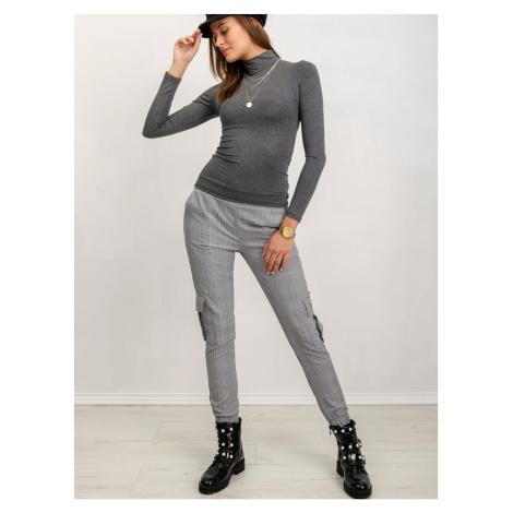 RUE PARIS dark gray turtleneck blouse Fashionhunters