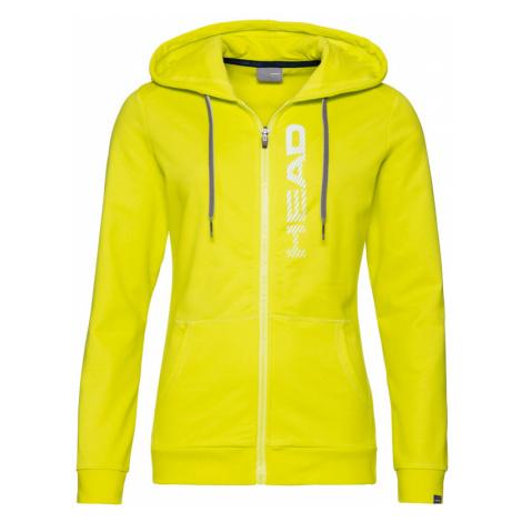 Dámská mikina Head Club Greta Hoodie Yellow/White,