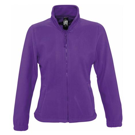 SOĽS Dámská fleecová mikina NORTH WOMEN 54500712 Dark purple SOL'S