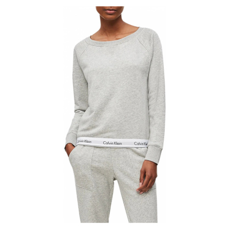 Calvin Klein šedá dámská mikina Top Sweatshirt Basic