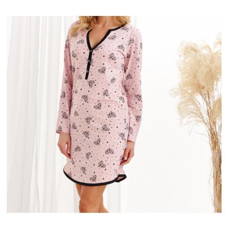 i384_14128965 Dámská noční košile Taro Nika 2228 dl/rZ20 pudrově růžová M