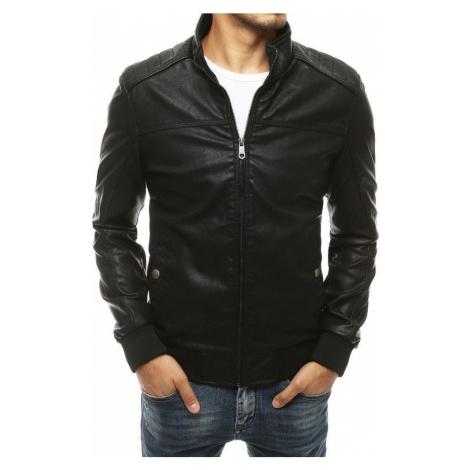 Dstreet Černá koženková bunda v moderním provedení