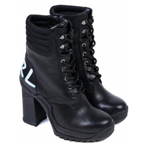 Kotníková Obuv Karl Lagerfeld Voyage Iii Ankle Lace Logo Boot - Černá