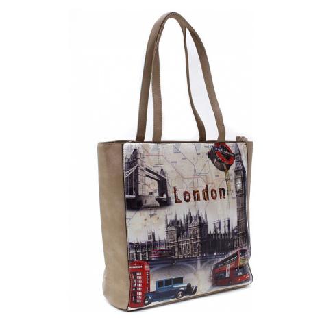 Růžovohnědá moderní dámská kabelka na rameno Londien Tapple