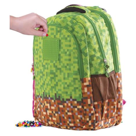 PIXIE CREW studentský batoh MINECRAFT zeleno-hnědý