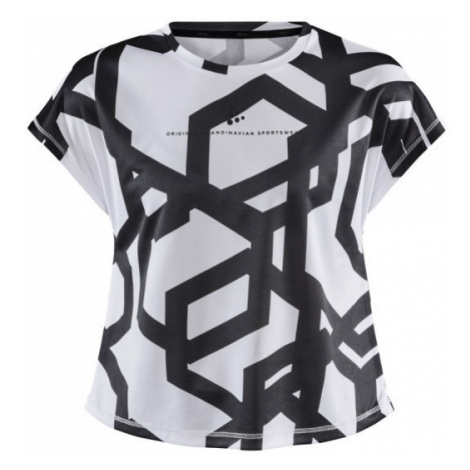 Dětské tričko CRAFT Focus Boxy JR bílá/černá