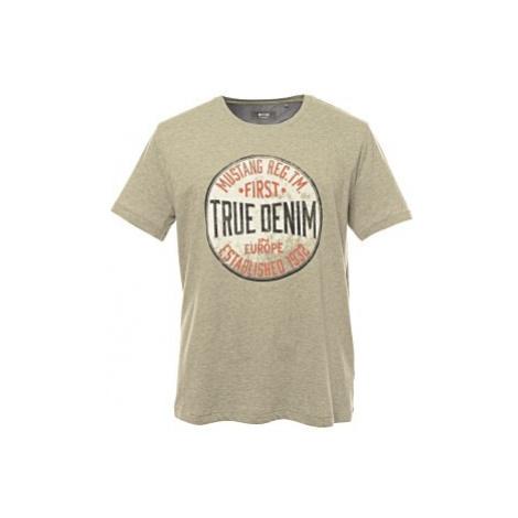Pánské triko Mustang Print T-Shirt šedé