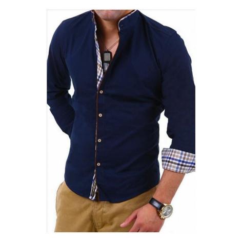 CARISMA košile pánská 8070 dlouhý rukáv slim fit tmavě modrá