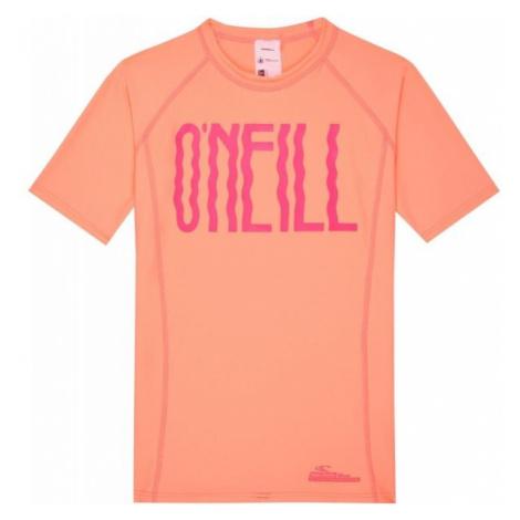 O'Neill PG LOGO SHORT SLEEVE SKINS oranžová - Dívčí triko s UV filtrem