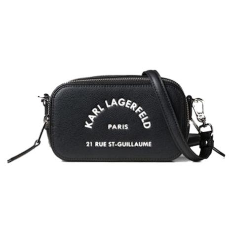 Černá kožená kabelka - KARL LAGERFELD | rue st guillaume