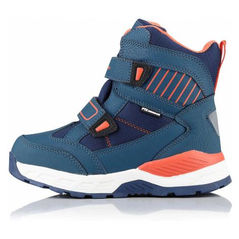 Dětská zimní obuv Alpine Pro ROWANO - modro-oranžová