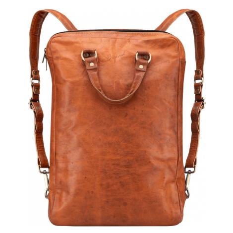 Bagind Origo - Dámský i pánský kožený batoh hnědý, ruční výroba, český design