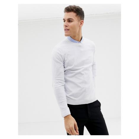 ASOS DESIGN cotton jumper in white