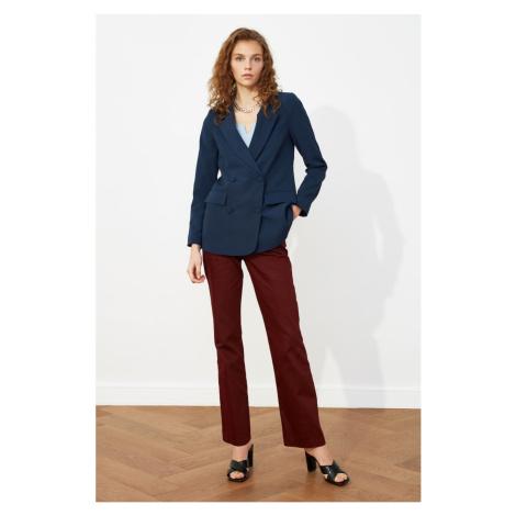 Trendyol Indigo Linen Looking Cotton Basic Blazer