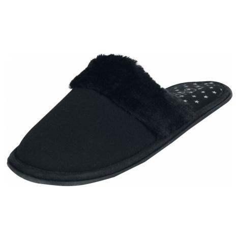 Forplay Kožušinové pantofle papuce černá