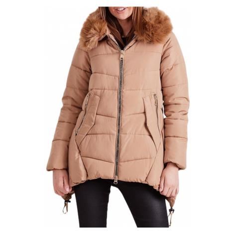 Dámská zimní béžová bunda