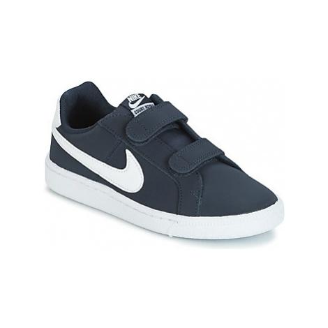 Nike COURT ROYALE PRESCHOOL Modrá