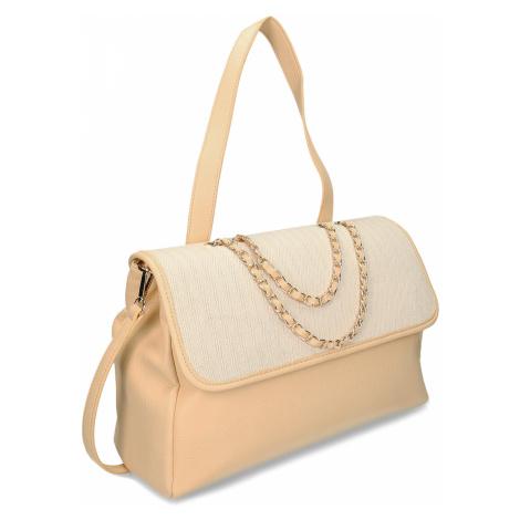 Béžová dámská kabelka s řetízkem Baťa