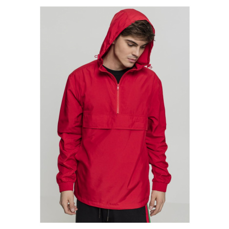 Basic Pull Over Jacket - fire red Urban Classics