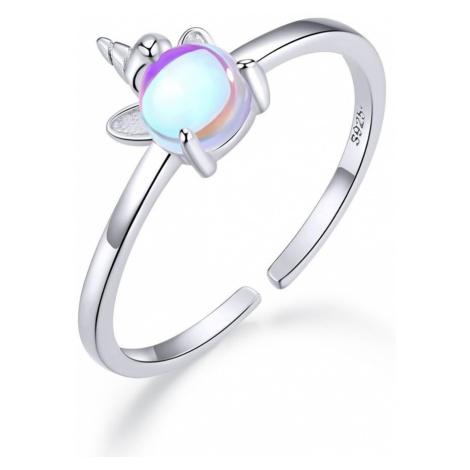 iocel.cz Stříbrný prsten Cute Unicorn IPR054 Velikost: Univerzální
