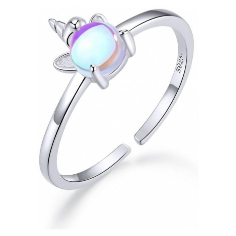 Linda's Jewelry Stříbrný prsten Cute Unicorn IPR054 Velikost: Univerzální