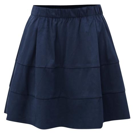 Tmavě modrá sukně v semišové úpravě Noisy May Lauren