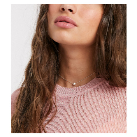 Kingsley Ryan sterling silver choker necklace with pearl pendant