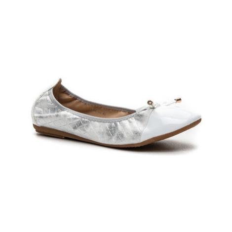 Vices Bombastické stříbrné dámské baleríny ruznobarevne
