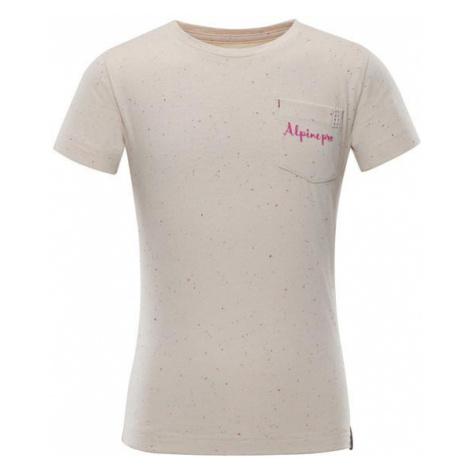 Gango béžová dětské triko ALPINE PRO