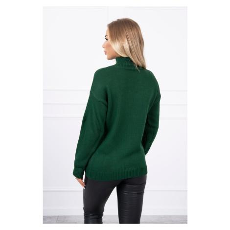 Sweater high neck green Kesi