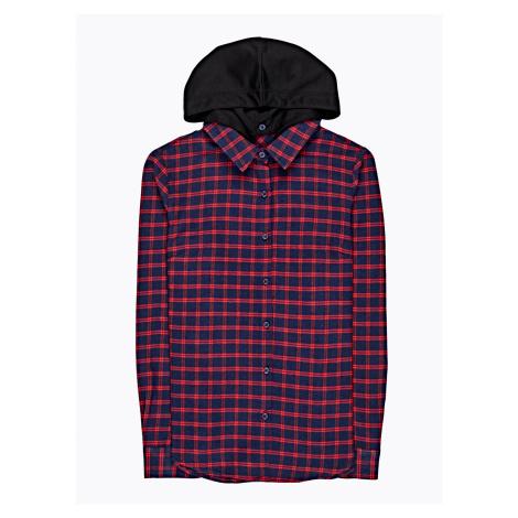 GATE Károvaná košile s kapucí