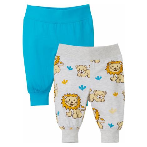 Baby úpletové kalhoty (2 ks) z organické bavlny Bonprix