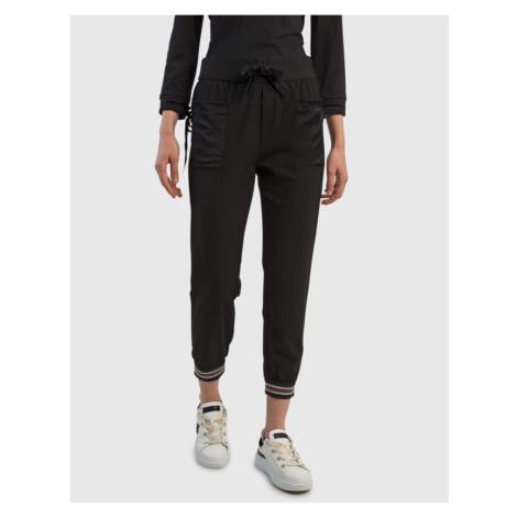 Tepláky La Martina Woman Trouser Bi/Stretch Cady - Černá