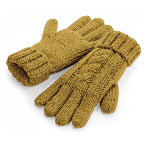 Dámské pletené rukavice - hořčicové Beechfield